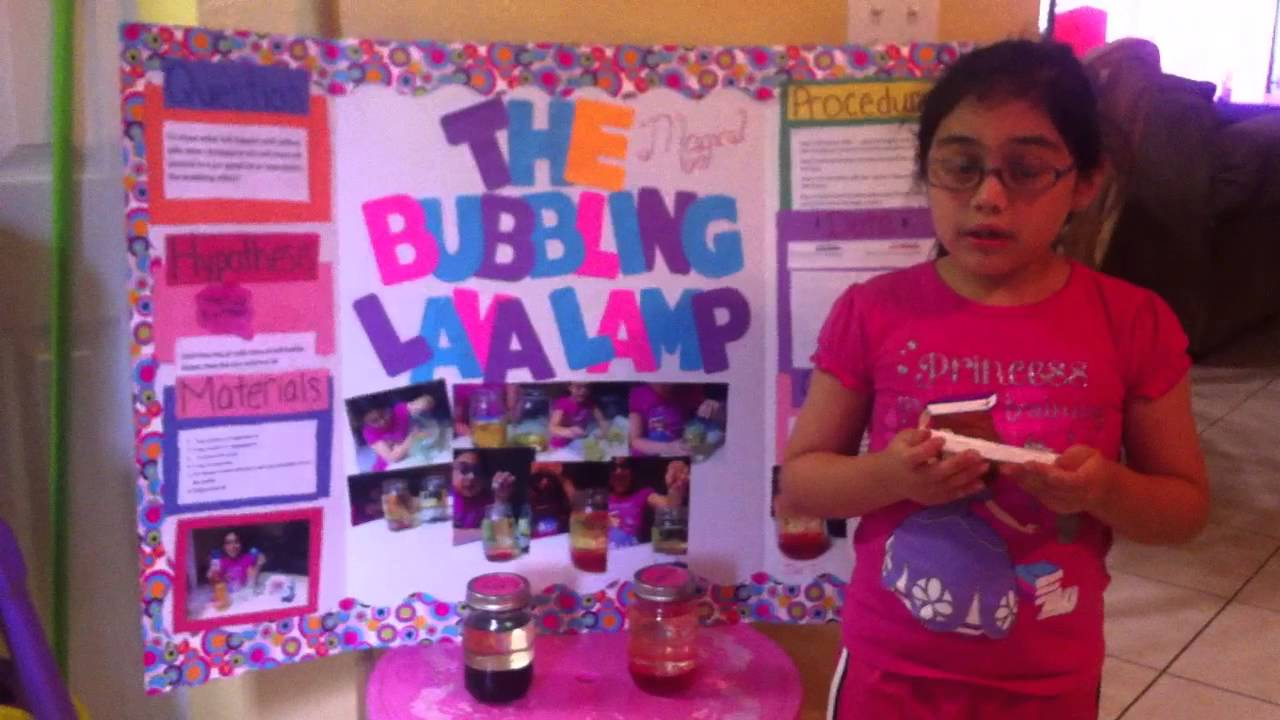 Mel's first grade science project - YouTube