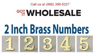 Got It Wholesale 2 Inch Brass Numbers