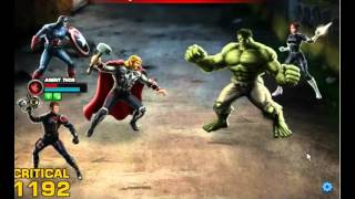 Marvel's Avengers Alliance - Captain America and Thor PvP Gameplay