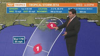 Download lagu Tuesday 4 am Tropical Update: Zeta weakens to tropical storm, expected to strengthen again