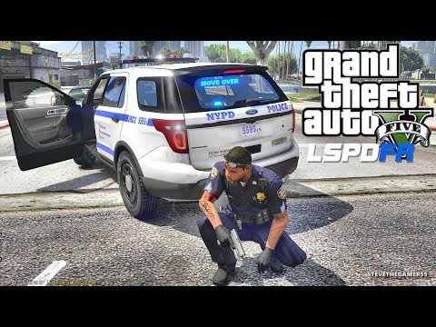 LSPDFR #586 - NYPD PATROL (GTA 5 REAL LIFE POLICE PC MOD)  FORD EXPLORER
