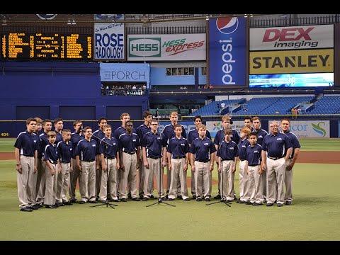 Academy at the Lakes Boys' Singing Group at Tampa Bay Rays Game