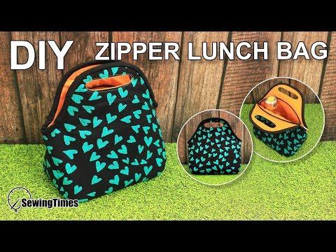 DIY LUNCH BAG 가방만들기   Portable Picnic Bag Sewing Tutorial   Free Sewing Pattern [sewingtimes]