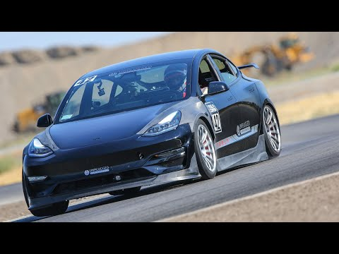 World's Fastest Time Attack Tesla - Unplugged Performance Ascension-R at Buttonwillow In Car Footage