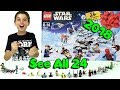 Lego Star Wars Advent Calendar 2018 set 75213 | *Spoilers - Complete 24 Minifigures and Minibuilds