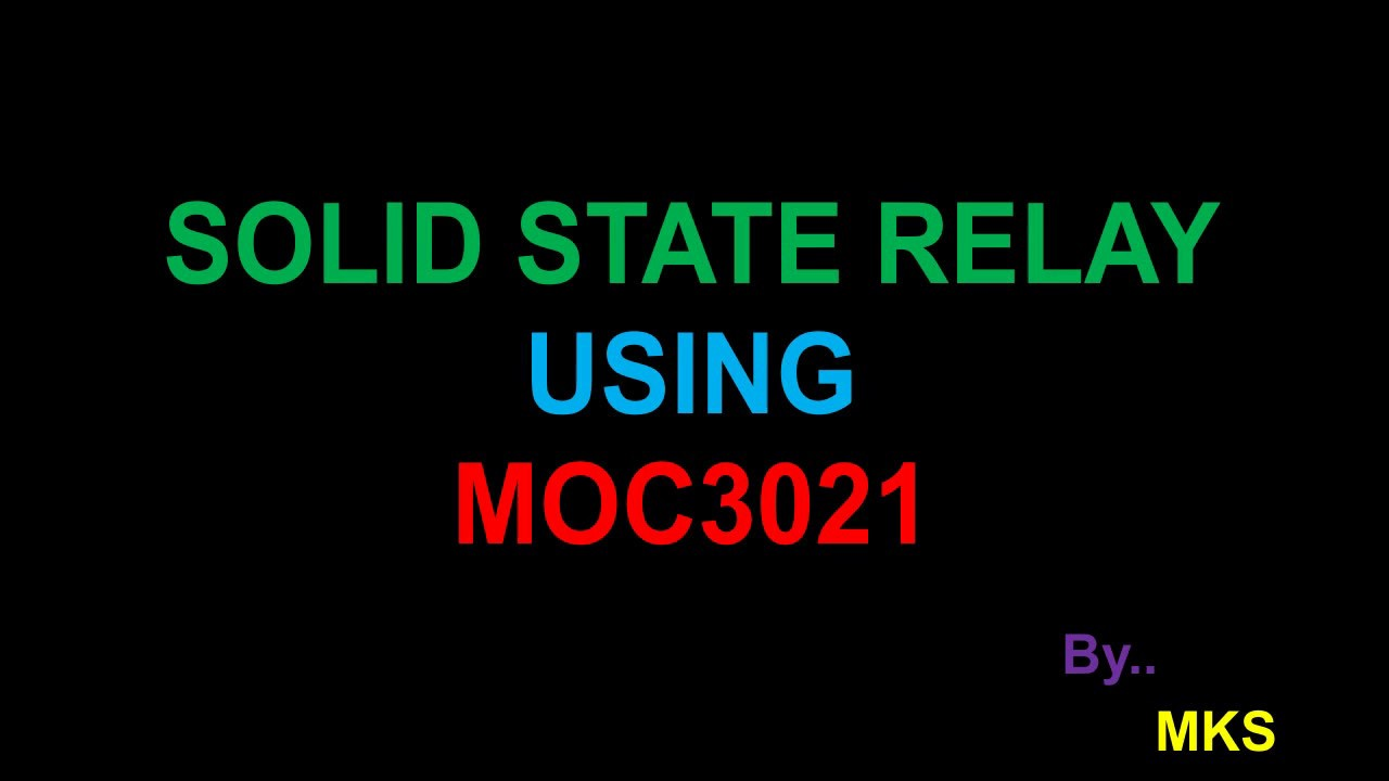 MOC Circuit - Solid state relay using triac