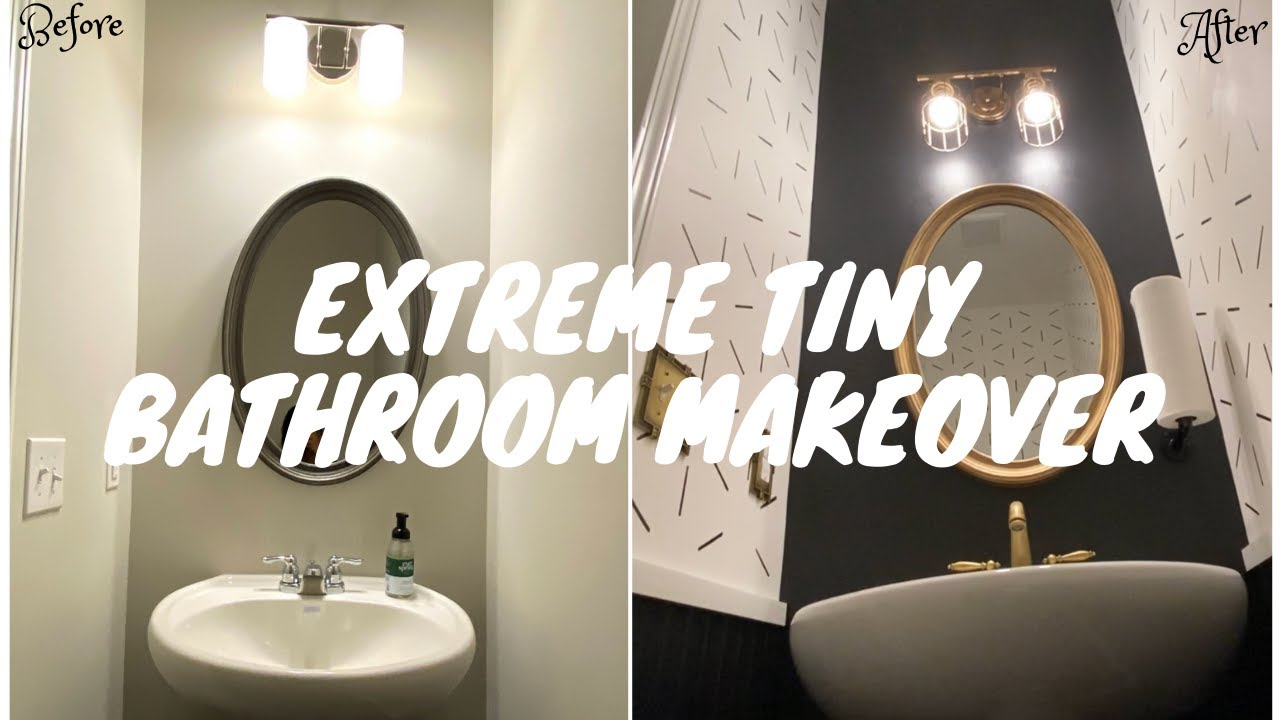 half bath makeover with amazing tiled