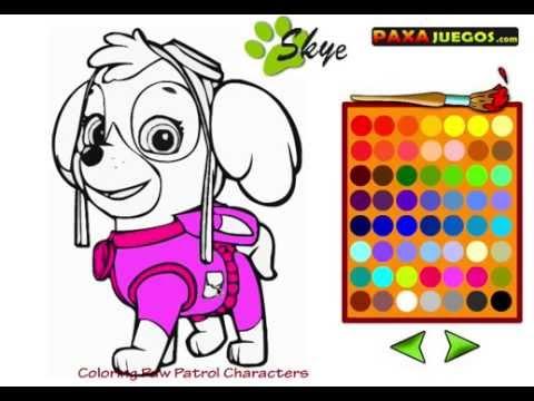 Coloreamos A Skye Juegos La Patrulla Canina En Español