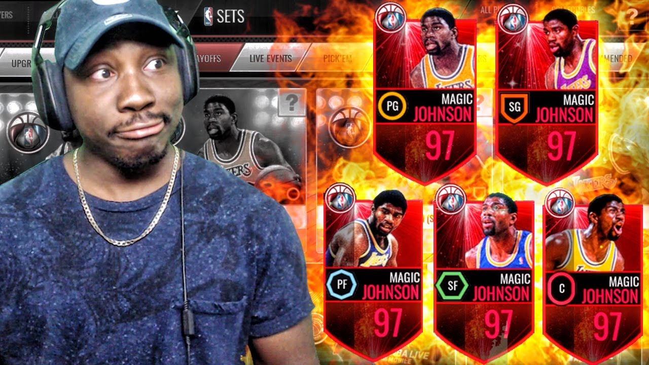 97 MAGIC JOHNSON PLAYING EVERY POSITION & SWISH PACK OPENING NBA