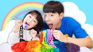 Johny Johny Yes Papa Playing with Colorful Play Doh Noodles 스파게티 요리사 주방놀이 마슈브이로그 Mashu vlog
