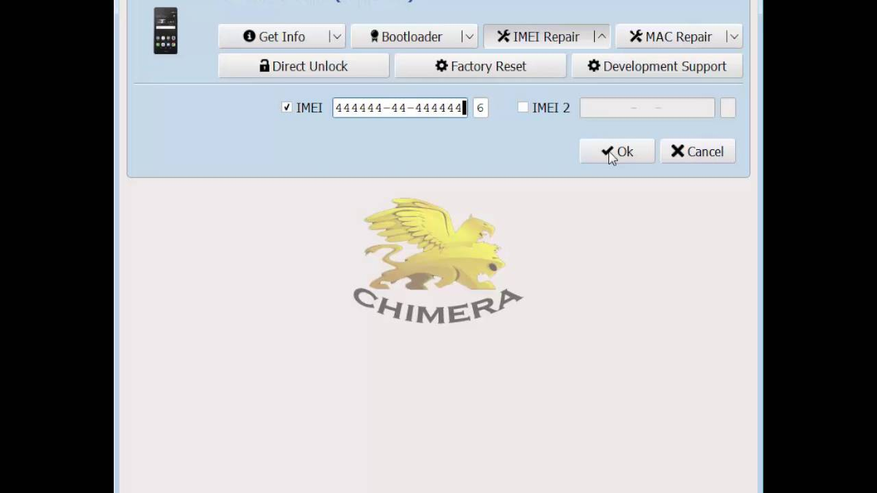 Huawei P9 Lite (VNS-L21) IMEI repair with ChimeraTool