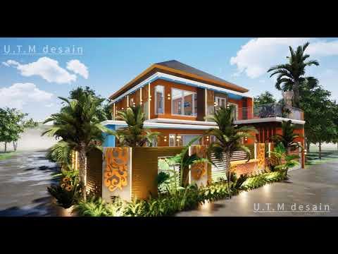 desain rumah minimalis modern tropis 2 lantai atap limas