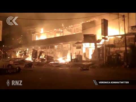 Goverment buildings burn in West Papua protests | RNZ