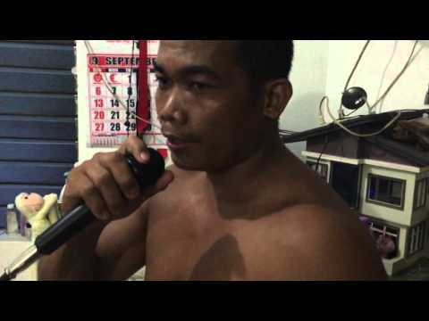 Philippines,Funny man singing Karaoke
