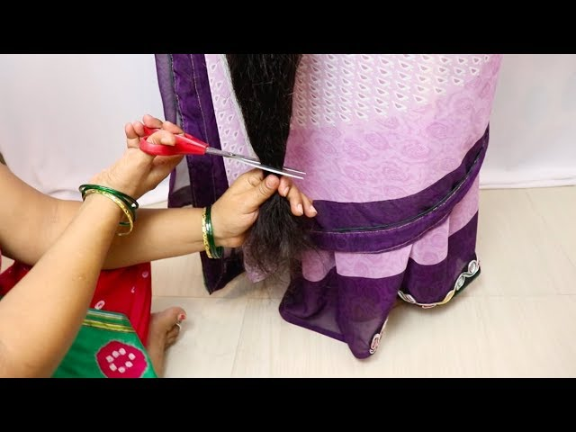 ILHW Rapunzel Gangas Below Knee Length Extra Thick Hair Trimming to Thigh Length
