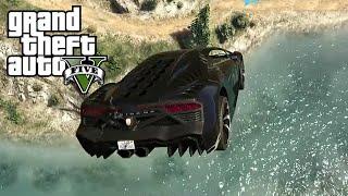 LONGEST RIVER JUMP! (GTA5 Funny Moments)