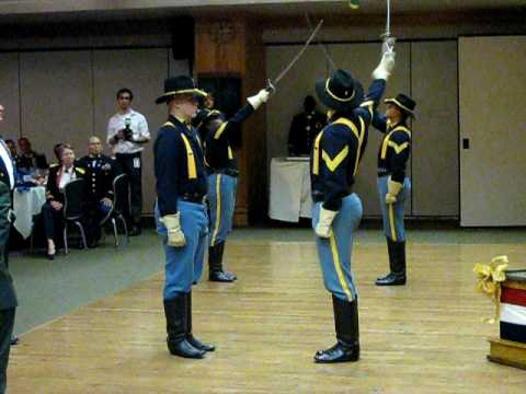 1st Cav Honor Guard Saber Spin