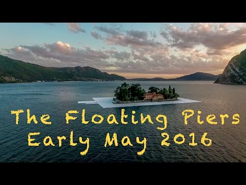 """MAKING OF """"THE FLOATING PIERS"""" BY CHRISTO // ISEO LAKE // ITALY // EARLY MAY  2016"""