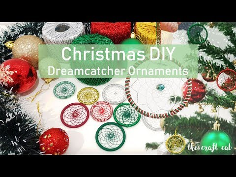 Holiday DIY ! Glitter Dream Catcher Ornament for Christmas Tree