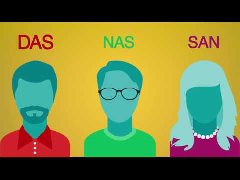 SAN vs  NAS vs  DAS