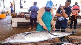 Live Fish Cutting Skills // Fish Market in India | Fisherman