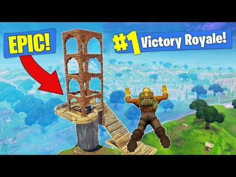 Building a LEGENDARY Launch Pad In Fortnite - Battle Royale!