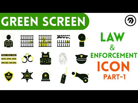 Green Screen Law & Enforcement Icon Part 1