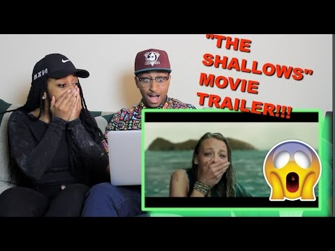 "Thumbnail: Couple Reacts : ""THE SHALLOWS"" Movie Trailer Reaction!!"
