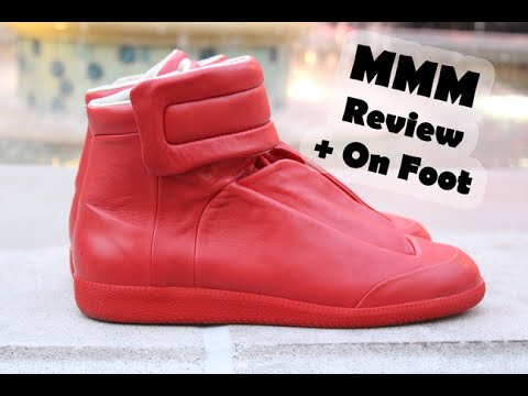 Maison Martin Margiela Red Leather Future High Review + On Foot ... c9067d439