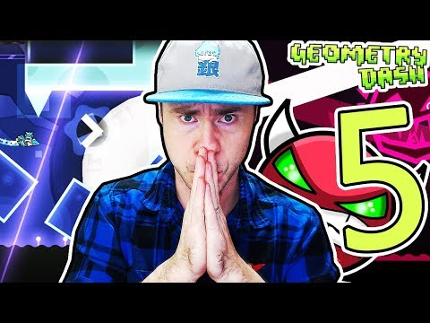 COMPLETING 5 DEMONS IN ONE VIDEO (#3) // Geometry Dash