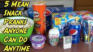 5 Snack Pranks Anyone Can Do Anytime - HOW TO PRANK (Evil Booby Traps)