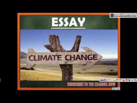 ESSAY on CLIMATE CHANGE - SSC CGL - TIER III