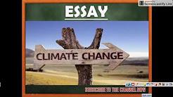 ESSAY on CLIMATE CHANGE - SSC CGL - TIER III