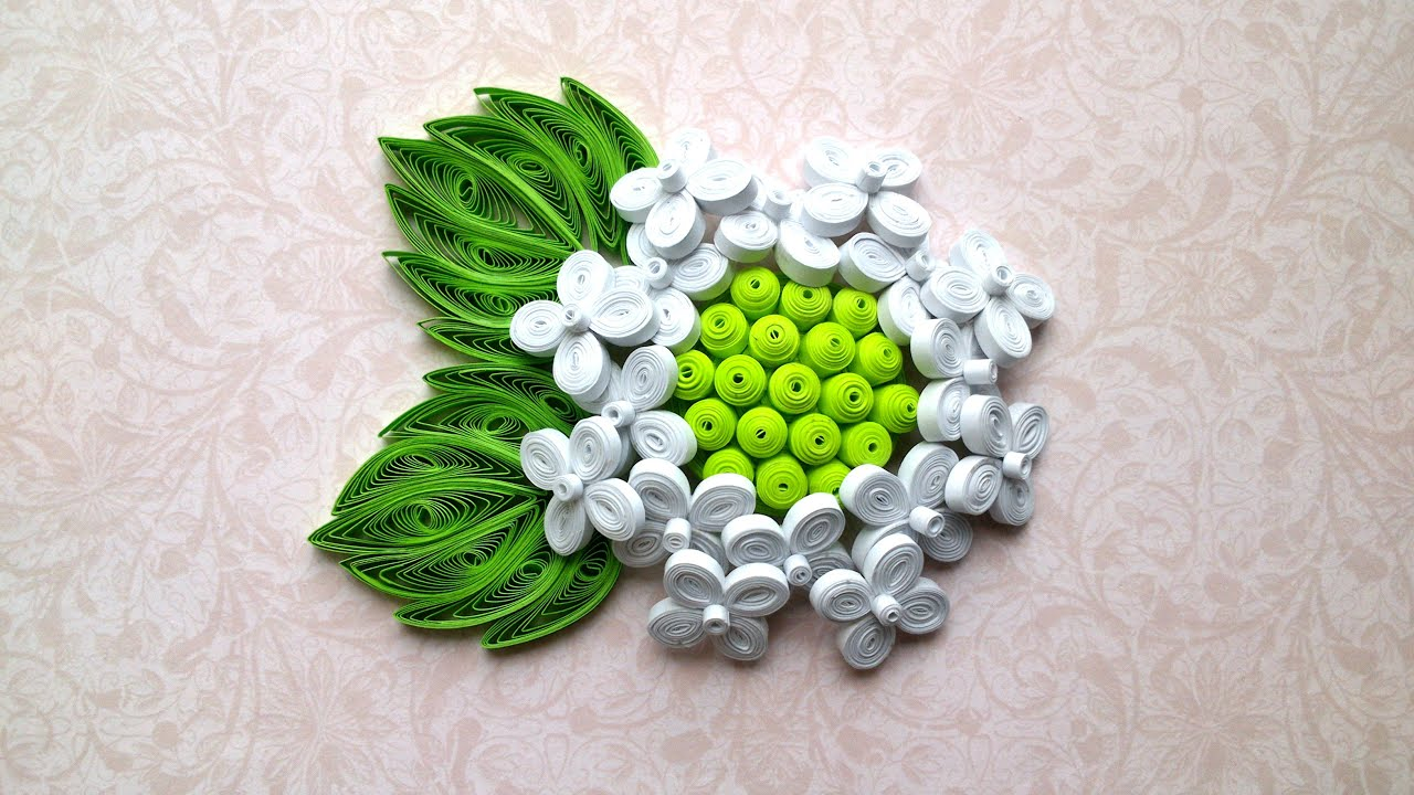 Paper Flower Tutorial How To Make Quilling Hydrangea Paper Flower