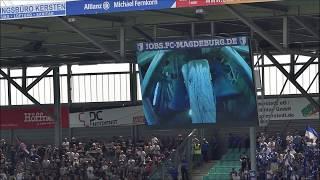 Choreo -  Support - Gänsehaut  - Anpfiff  1.FC Magdeburg vs. St. Pauli - 05.08.2018 2.Liga