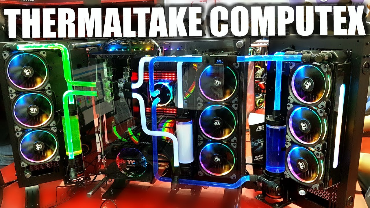 Thermaltake Booth Computex - New Products & Water Cooled ...
