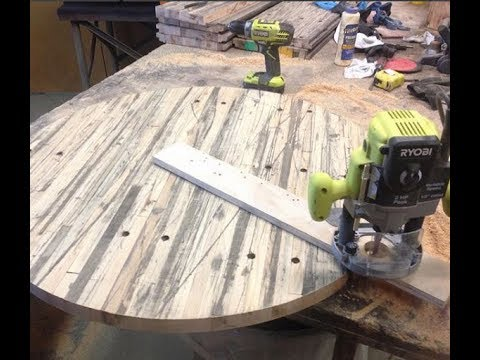 Make a round table top with the router