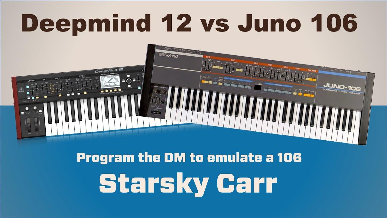 Deepmind 12 vs Juno 106: How to get similar tones
