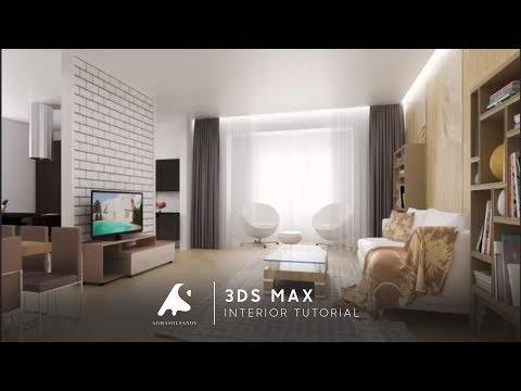 3D Max Interior Design Modeling Tutorial Vray + PhotoshopCameraRaw 2016 HD