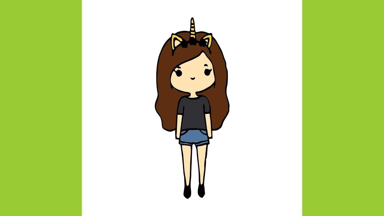 Kawaii Roblox Girl Tumblr How To Draw Tumblr Chibi Unicorn Girl Youtube