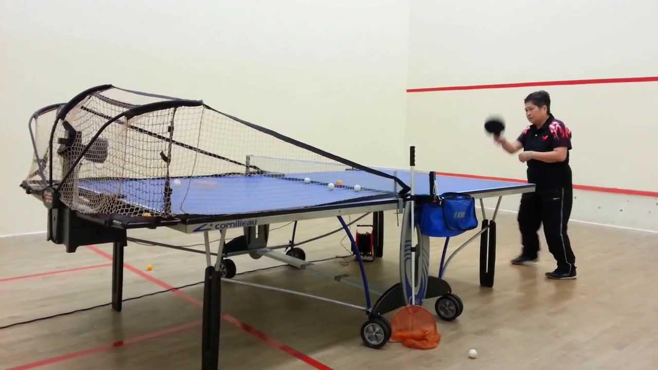 20140307 龍琛路體育館乒乓球友鑣叔伉儷練習(1) - YouTube
