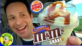 Burger King® | CARAMEL M&M's® SHAKE Review 🍦🍫🥤 | Peep THIS Out! 🍔👑