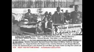 Louis Armstrong + Henry Red Allen + Shelton Hemphill 1940 Cotton Club - Keep The Rhythm Going