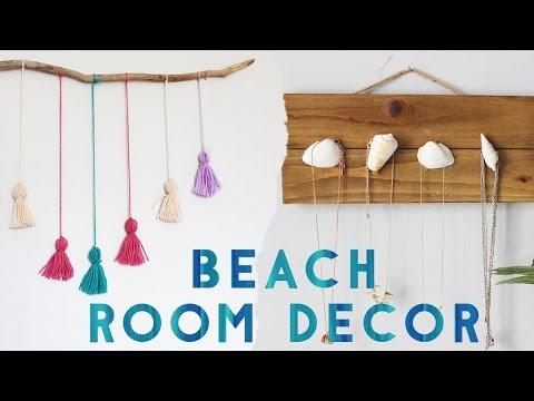 diy beach room decor summer 2016 youtube