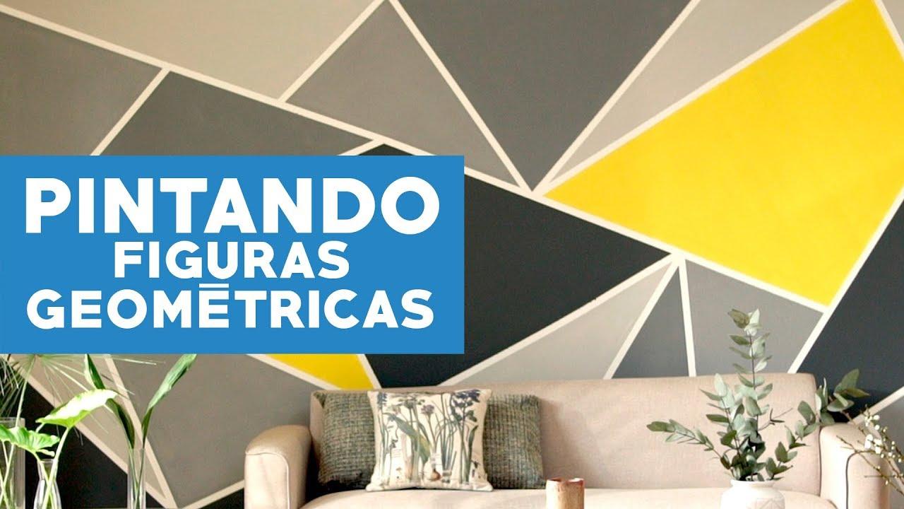 Cómo pintar figuras geométricas en los muros? - YouTube