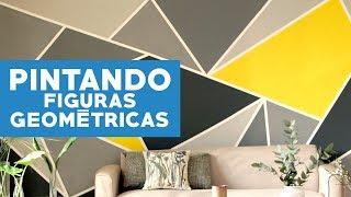 ¿Cómo pintar figuras geométricas en los muros?