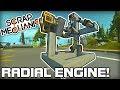 Radial Engine and Piston Powered Cars! (Scrap Mechanic #183)