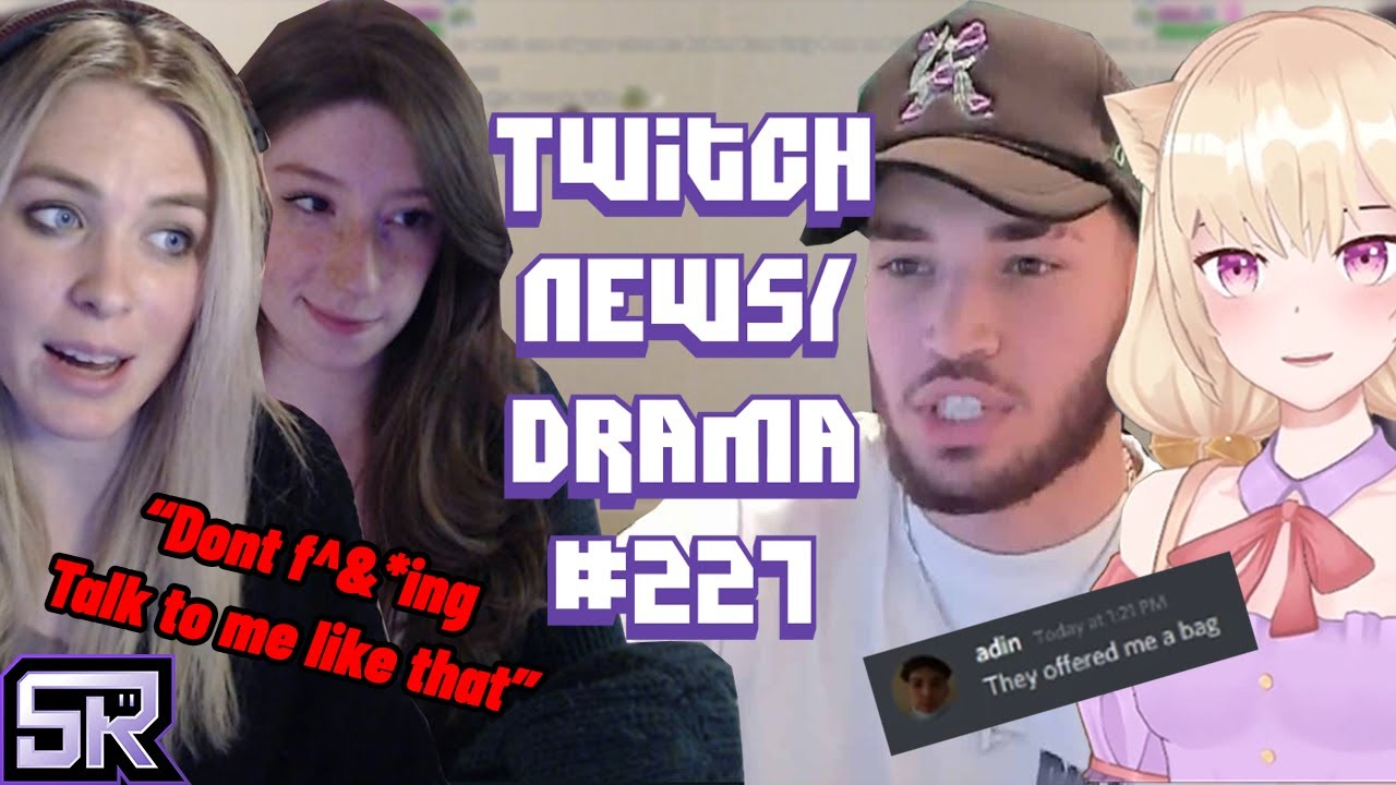AdinRoss Gambling Earnings, Vtuber AlyMew Targeted Hate,  Dream Ditches Show- Twitch Drama/News #227