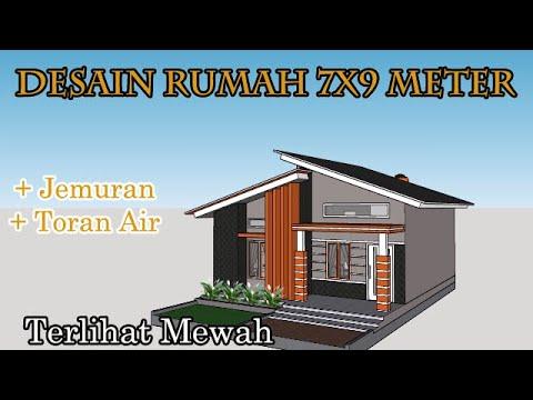 Desain Rumah Sederhana Gaya Minimalis 7x9 Meter Jemuran Cucian Youtube