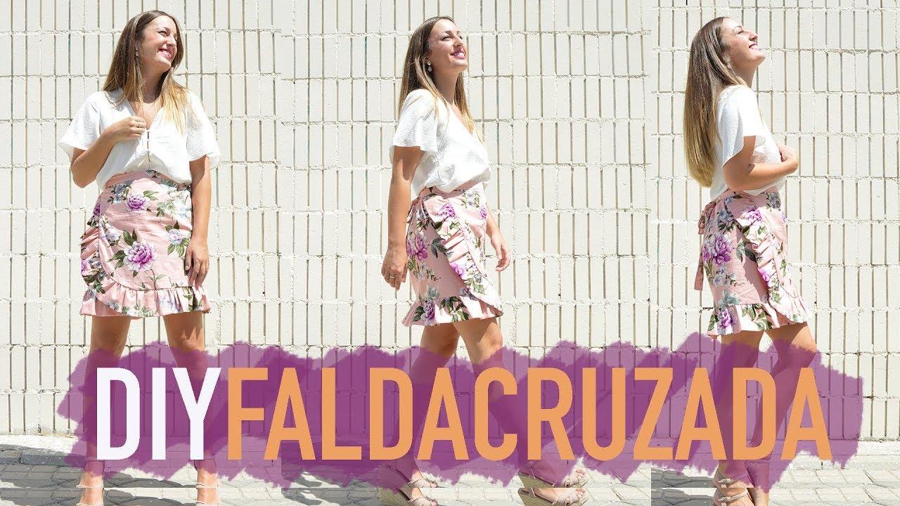 Como hacer una falda cruzada, muy fácil (Incluido patrón)| DIY ...